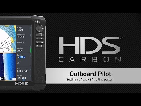 HDS Carbon – Setting up Outboard Pilot Trolling Patterns