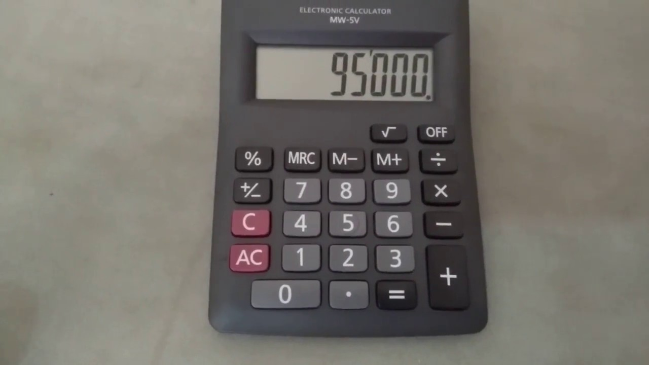 How to calculate percentage on calculator using percentage button