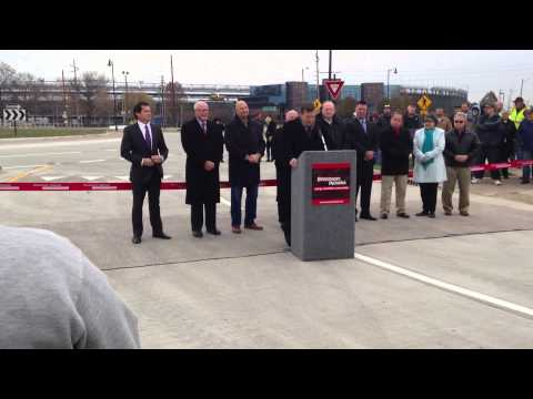 Main Street Roundabout Ribbon Cutting Ceremony - Speedway, Indiana
