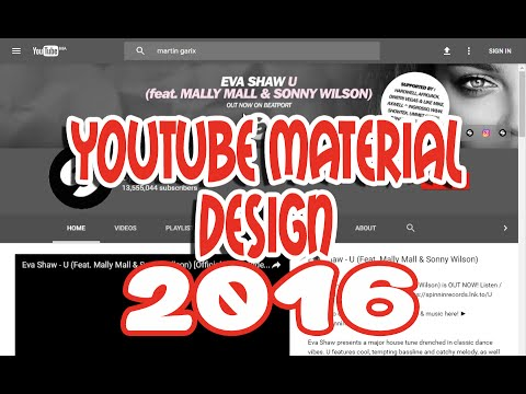 YOUTUBE NEW LOOK - YouTube Material Design 2016 : how to Enable Tutorial