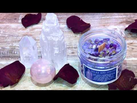 Devine Flame Wood Wick Crystal Energy Candles