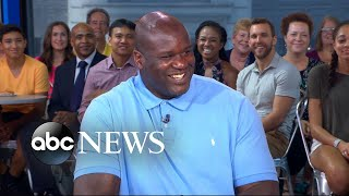Shaq shows off his best poses and relives own fashion trends