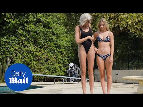 Ex model Caroline Arthur is bidding for world's longest legs - Daily Mail