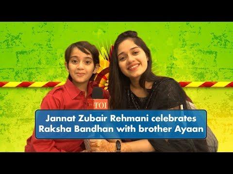 Tu Aashiqui's Jannat Zubair Rehmani celebrates Raksha Bandhan with brother Ayaan