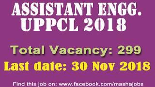 UPPCL AE 2018 || यूपीपीसीएल असिस्टेंट इंजीनियर 2018 || Apply Now