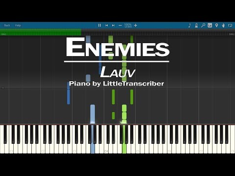 Lauv - Enemies (Piano Cover) Synthesia Tutorial by LittleTranscriber