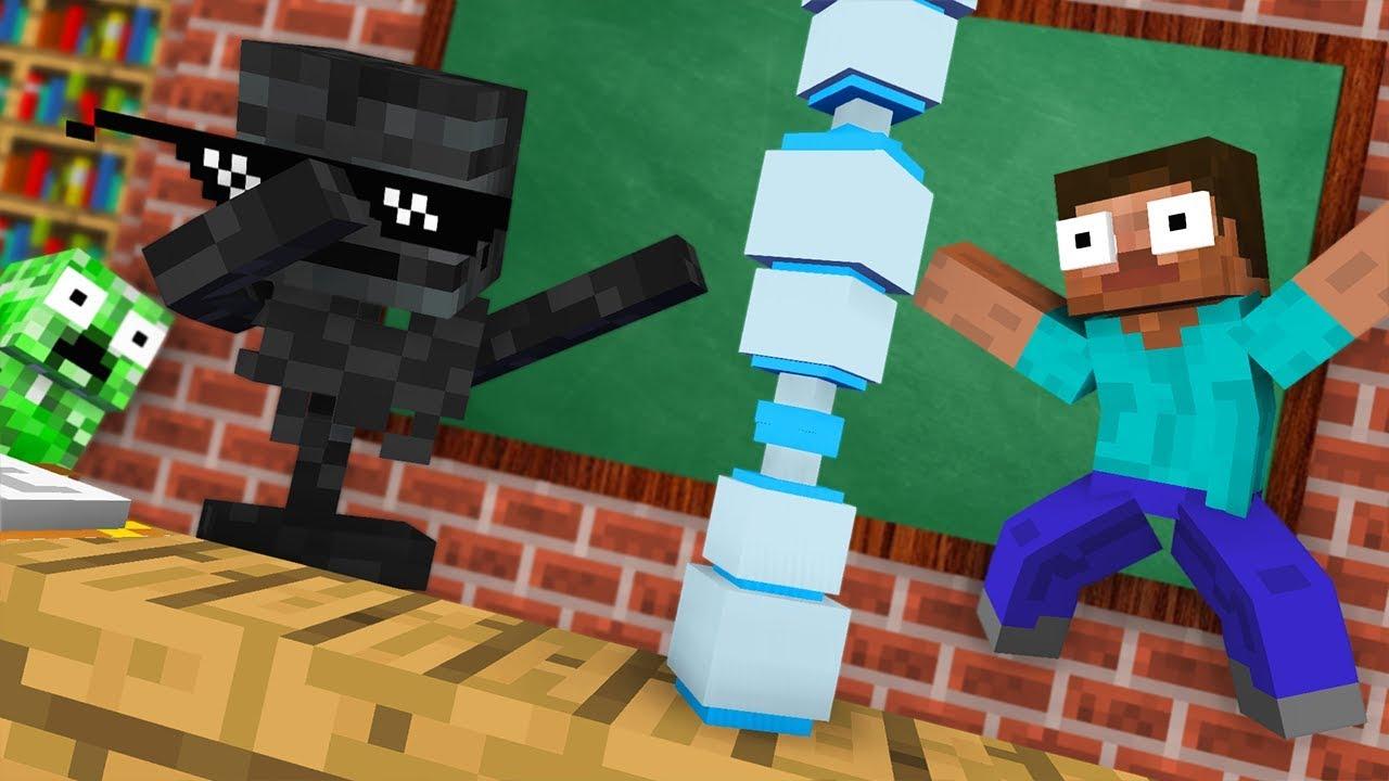 Download Monster School : BOTTLE FLIP CHALLENGE - Funny Minecraft Animation
