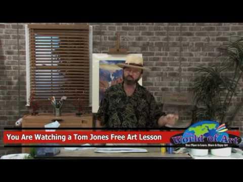 Free Art Lesson –  Tom Jones – Moon in a Landscape