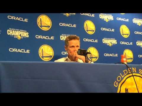 "Entire STEVE KERR postgame: on Curry: ""Nobody has ever tilted the floor the way Steph does"""