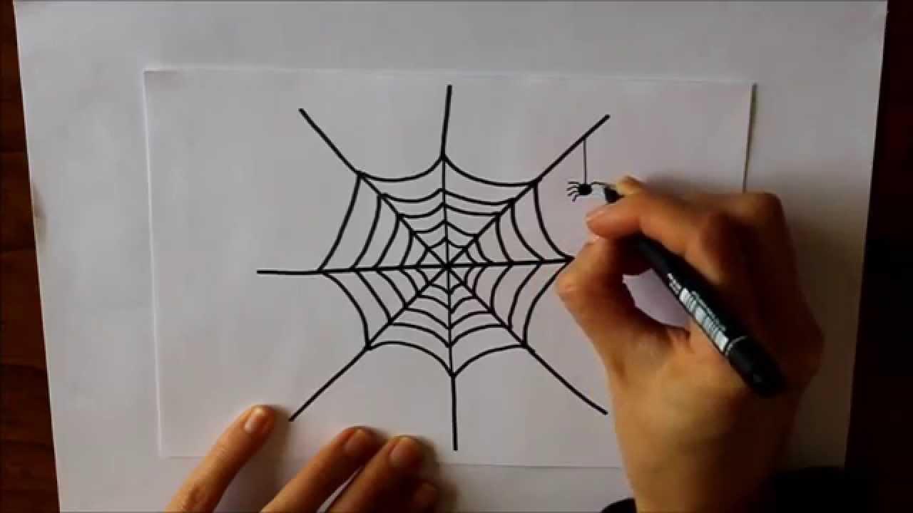 C mo dibujar una tela de ara a dibuja conmigo dibujos de - Como hacer tela de arana ...