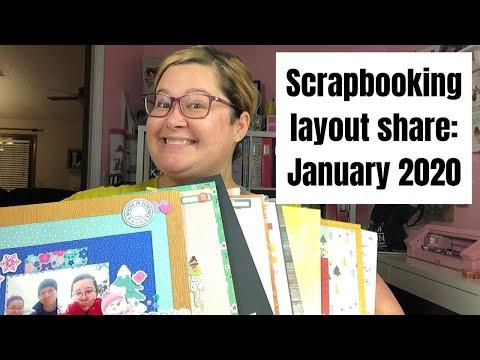 Scrapbooking Layout Share: January 2020