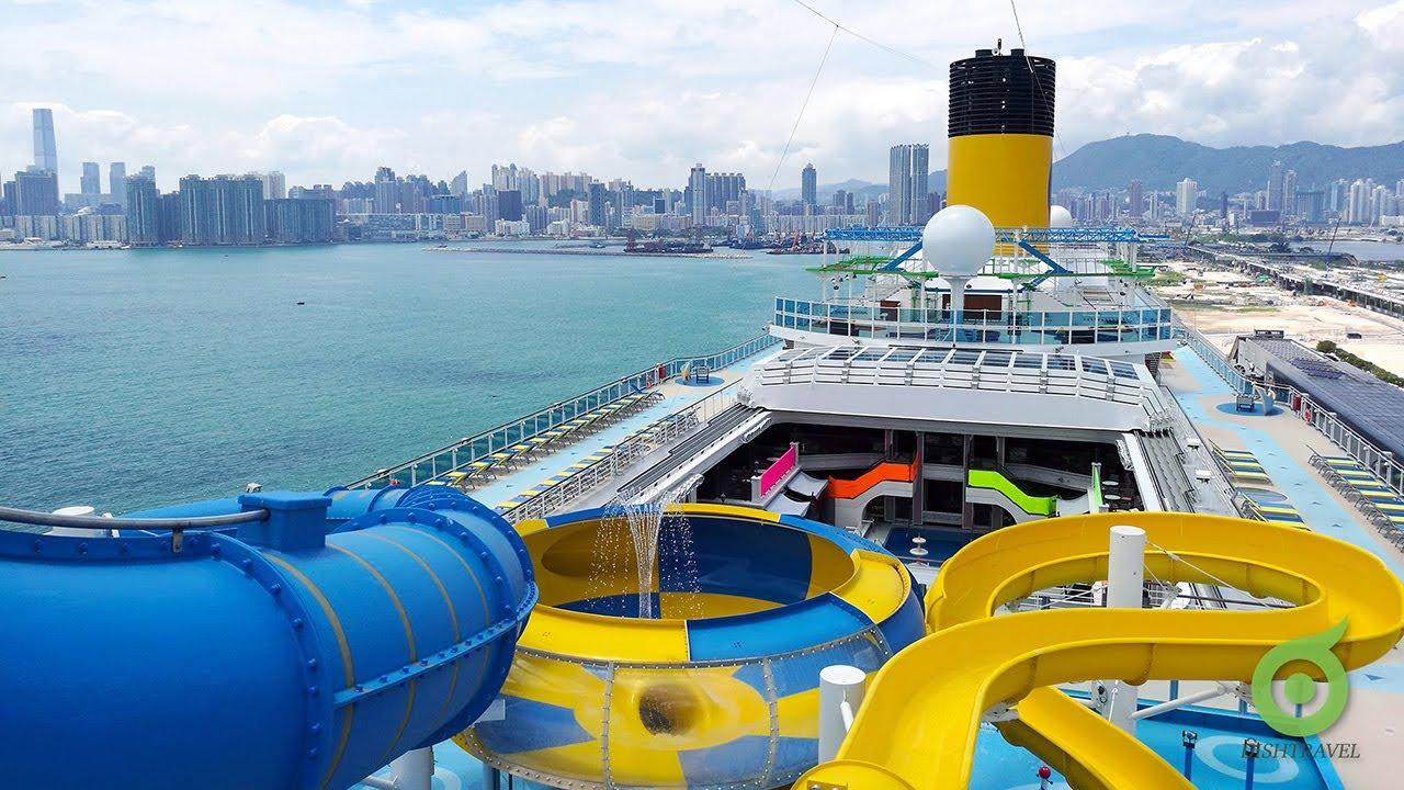 【航線@香港】歌詩達威尼斯號 2019最新郵輪訪港 - YouTube