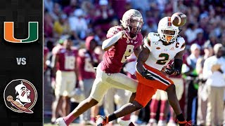 Miami vs. Florida State Football Highlights (2019)