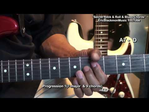 How To Play Secret Rock & Roll & Blues Guitar Chords Tutorial EricBlackmonMusicHD YouTube