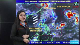 Public Weather Forecast Issued at 4:00 PM August 17, 2018