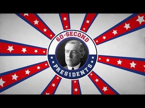 Woodrow Wilson | 60-Second Presidents | PBS