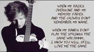 Thinking Out Loud By Ed Sheeran LYRICS Album Version