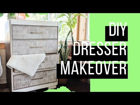 DIY DRESSER MAKEOVER | USING STENCILS AND PAINT