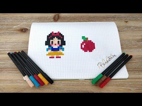 Pixel Art Blanche Neige Disney Youtube