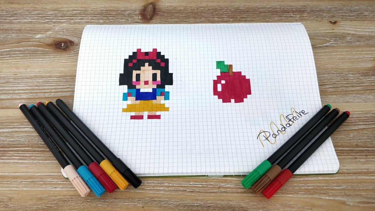 Pixel Art Blanche Neige Disney