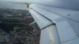 ポルトガル(08.01.03) リスボン空港からバルセロナに向けて離陸
