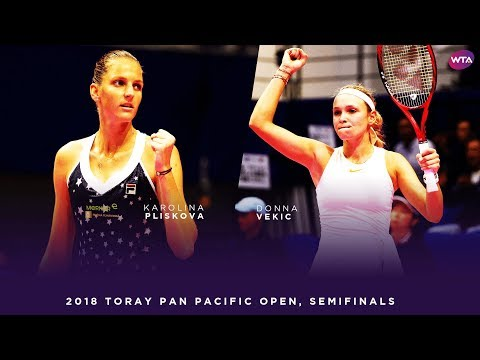 Karolina Pliskova vs. Donna Vekic | 2018 Toray Pan Pacific Open Semifinals 東レPPOテニス | Highlights