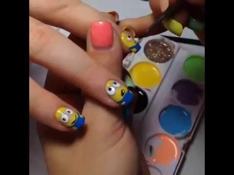 Дизайн ногтей мультяшный фото