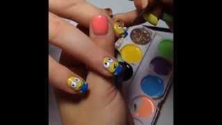 Мультяшный дизайн ногтей! Мультяшки - миньоны!