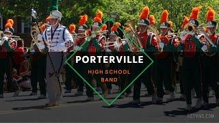 Porterville High School Band - Porterville Veterans Day Parade 2016