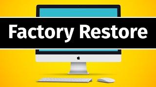 How to Factory Reset Mac Desktop   Delete All info   Reinstall macOS   Set Up like New