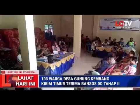 BLT DD TAHAP 2 DESA GUNUNG KEMBANG KIKIM TIMUR DIBAGIKAN