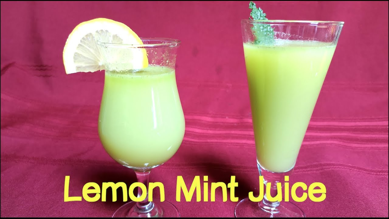 [cc] Best Lemon Mint Juice, 檸檬薄荷汁,柠檬薄荷汁。Differences Peppermint vs. Spearmint.  Easy Lemonade Recipe