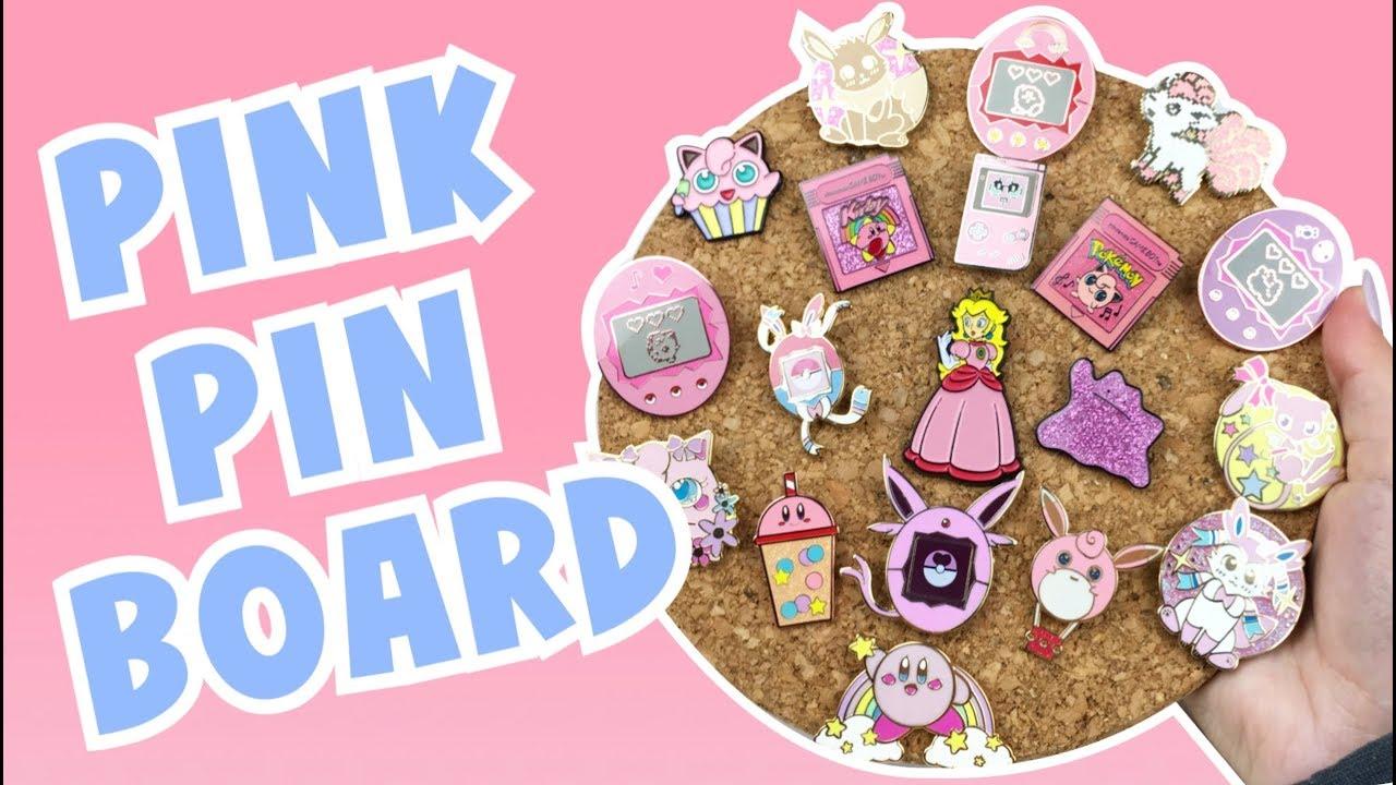 MAKING MY PINK ENAMEL PIN BOARD DISPLAY! ♡
