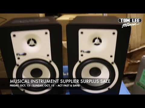 Tom Lee Music Supplier Surplus Sale 2017 - Recording Gear, Speakers, DJ Gear, PA