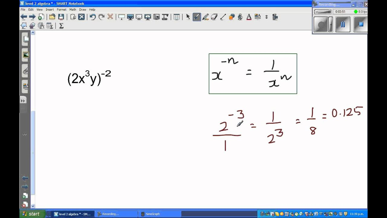 Writing in exponent form with positive indices youtube writing in exponent form with positive indices falaconquin