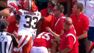 Ronnie Harrison PUSHES Chiefs Coach (EJECTED)