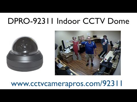 Dome Security Camera Indoor CCTV Surveillance Video Demo