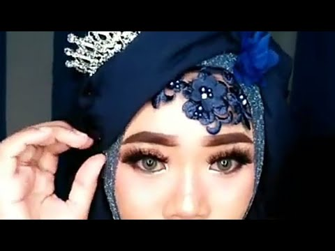 Tutorial hijab pengantin by Eva lampung  YouTube