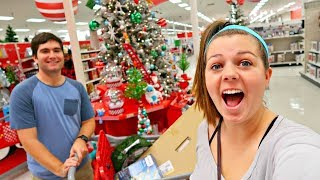 CHRISTMAS DECOR SHOPPING AT TARGET! GETTING OUR CHRISTMAS TREE!