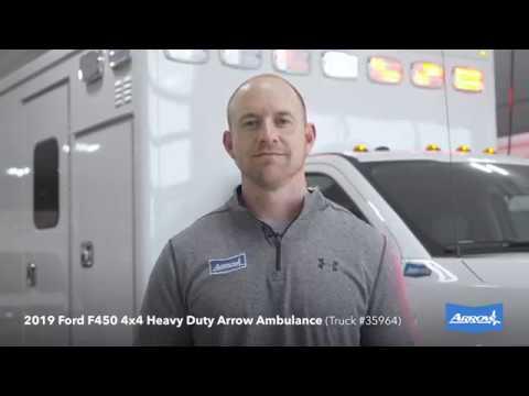 2019 Ford F450 4x4 Heavy Duty Arrow Ambulance (Truck #35964)