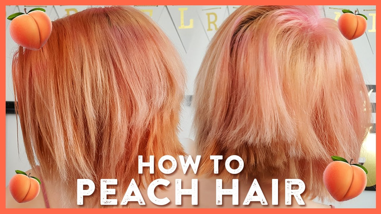 pretty in peach and pink hair color tutorial youtube