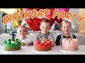 3 BIRTHDAY PARTIES in ONE DAY! Ellie and Jared Family Special!