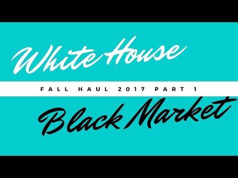WHITE HOUSE BLACK MARKET FALL HAUL 2017 PART 1
