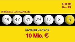 Lottozahlen 05.10.19 Lotto6aus49