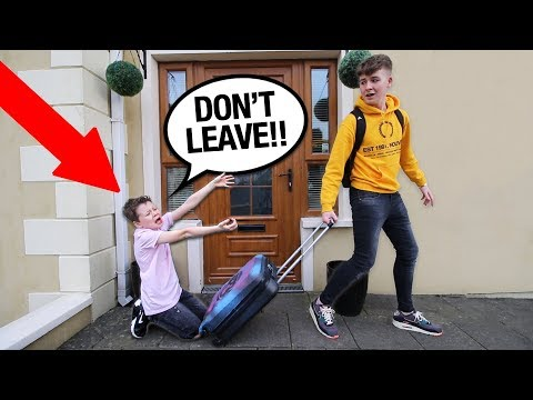 i'm MOVING OUT PRANK on LITTLE BROTHER!! *bad idea*