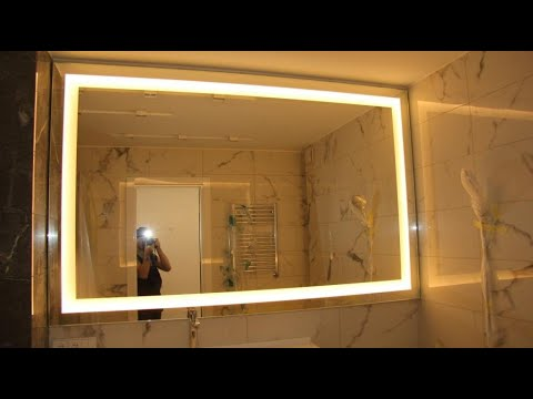 Зеркало с подсветкой по амальгаме на заказ Киев код: 90026. Зеркало в ванную. Дизайнерская мебель.
