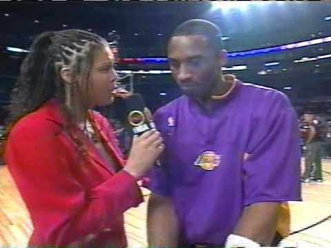 Cheryl Miller interviews Kobe Bryant prior to 2004 NBA All-star game