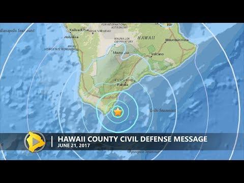 4.5 Earthquake Off Hawaii (Jun. 21, 2017)