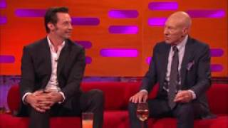 Hugh Jackman Loses It Over Sir Patrick Stewart's Ridiculous Circumcision Story