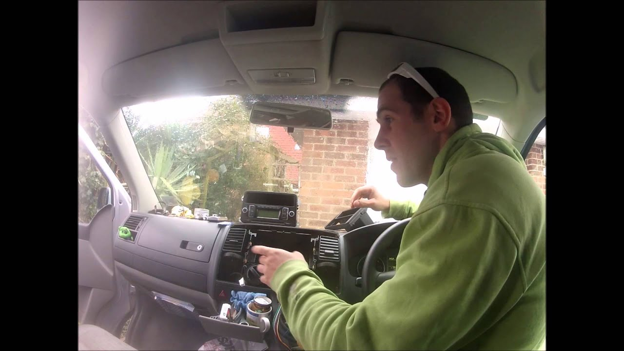 How to remove a VW T5 Head Unit - YouTube